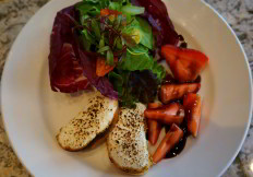 Criollo Restaurant Mixed Greens with Balsamic Strawberries